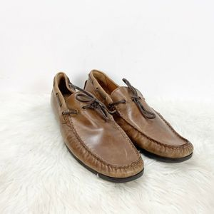 🌞GBX Brown Leather Henley Loafer Shoes